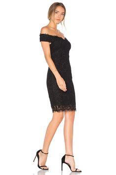 3ef886f626 Bardot Tara Lace Off Shoulder Dress in Black