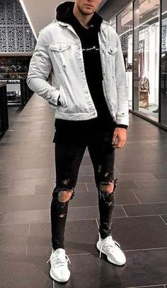 Cool outfits for men casual – Fashion Cool Outfits For Men, Stylish Mens Outfits, Sporty Outfits, Urban Outfits, Mode Outfits, Stylish Clothes For Men, Girl Outfits, Grunge Outfits, Casual Guy Outfits