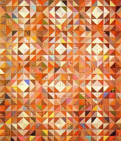 Pieced Triangles Quilt 1875 New York | Flickr - Photo Sharing!