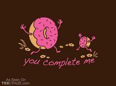 You Complete Me T-Shirt - http://teecraze.com/you-complete-me-t-shirt-2/ -  Designed by Snorg Tees    #tshirt #tee #art #fashion #clothing #apparel