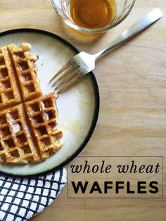 Whole Wheat Waffles | A quick and easy HEALTHY breakfast option!