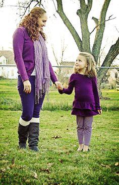 Matching Purple Fall Outfits!