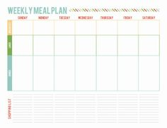 One Week Meal Planning Page Printable from A Well Feathered Nest