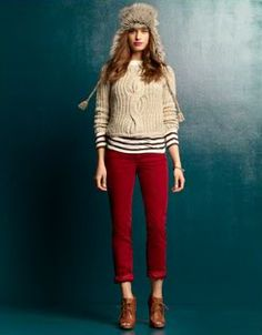 red pants for winter