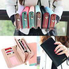 Women Fashion Leather Bifold Wallet Clutch Card Holders Purse Lady Long Handbag