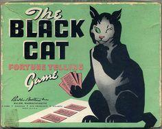 1940s Black Cat Fortune telling game.