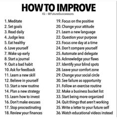 What an awesome list of large and small steps to take on your journey to self improvement! - Which one will you focus on this week? My focus is in the comments below. Get My Life Together, Mental And Emotional Health, Self Care Activities, Learn A New Language, Self Improvement Tips, Self Care Routine, How To Better Yourself, Best Self, Self Development