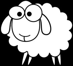 Sheep Line Drawing - ClipArt Best Sheep Outline, Sheep Template, Baby Flash Cards, Sheep Logo, Outline Pictures, Drawing Clipart, Art Clipart, Eid Crafts, Sheep Art