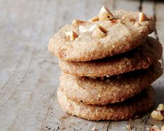 Nutty crunch cookies - If you can't find blanched hazelnuts, simply toast and skin regular ones.