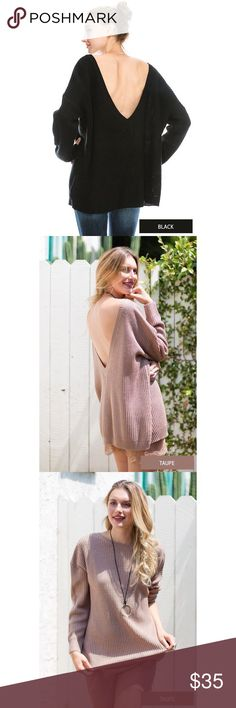 🌚Deep V Knit Sweater Boutique brand🌚 75% Acrylic 25% Mohair 🌚 Oversized fit🌚 Feel free to ask me any questions🌚 Thanks for browsing my closet!🌚 Happy Poshing🌚 Sweaters V-Necks