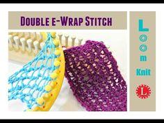 Double e-Wrap Knit Stitch - LoomaHat.com