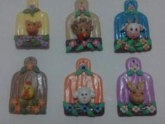 Imanes para el refrigerador en porcelana fria...by Miriam Rivera