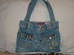You have to see Lil' Jean Purse on Craftsy! - Looking for sewing project inspiration? Check out Lil' Jean Purse by member Horsegal. - via @Craftsy