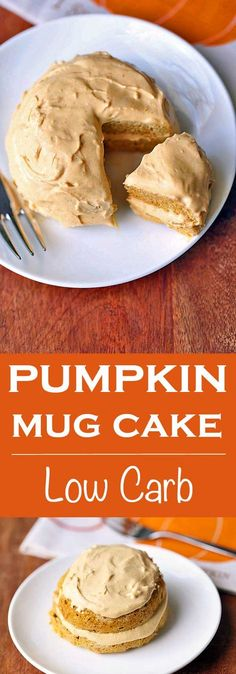 Mug Cake An easy pumpkin mug cake that's also healthy, keto and low carb. Without the frosting it makes a great breakfast. With the frosting, a yummy dessert.With With or WITH may refer to: Low Carb Sweets, Low Carb Desserts, Low Carb Recipes, Cooking Recipes, Stevia Desserts, Pastry Recipes, Healthy Desserts, Easy Desserts, Pumpkin Mug Cake Recipe