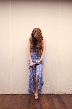 Washed Out Textured Maxi