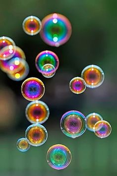 Rainbow Bubbles of soap ....
