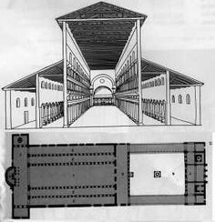 Plan of Old Saint Peters And Close Up Reconstruction Rome, 324 A.D.