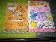 Title: My art journal. Medium: Done in Mixed media.
