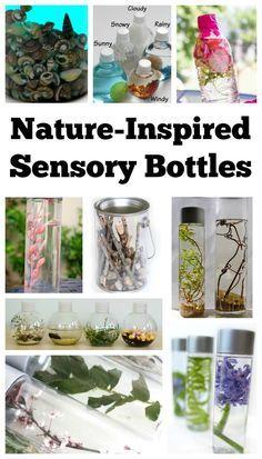 Nature Inspired Sensory Bottles