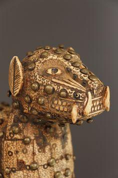 Art africain - Léopard Benin Bini Edo en ivoire ivory