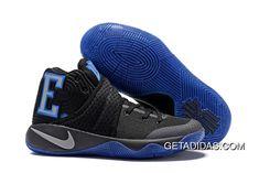 00ce00346095 Nike Kyrie Irving 2 Air Cushion Black Blue TopDeals
