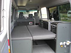 Rear kitchen, 4 seat, bed down.