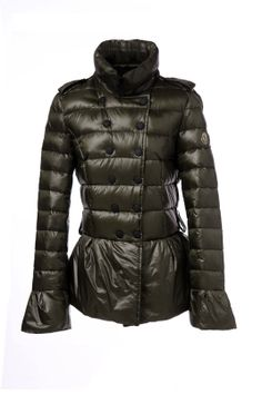 Moncler Style Double-breasted Down Jackets Green [2900428] - £167.20 : 5% off discount code: happywinter
