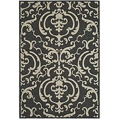 @Overstock - Safavieh Indoor/ Outdoor Bimini Black/ Sand Rug (9' x 12') - Fine-spun pile and durable construction highlight this unique indoor/outdoor rug. This area rug features rich colors and fringeless borders.  http://www.overstock.com/Home-Garden/Safavieh-Indoor-Outdoor-Bimini-Black-Sand-Rug-9-x-12/4757309/product.html?CID=214117 $194.64