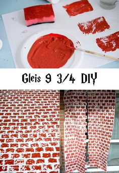 Harry Potter Party DIY Gleis 9 3/4