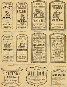antique medicines Vintage Labels, Vintage Ephemera, Vintage Ads, Vintage Posters, Apothecary Bottles, Bottles And Jars, Old Medicine Bottles, Etiquette Vintage, Halloween Labels