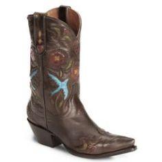 Dan Post Blue Bird Wingtip Cowgirl Boot - Snip Toe