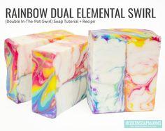 Rainbow Dual Elemental Swirl/In The Pot Swirl
