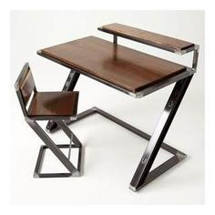 Custom Made Miterz Pen Palz Industrial Writing Desk is part of Welded furniture -