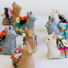 Little #llamas for #tbt. Unrelated: I'm coming down with something so my next posting might have to wait a little longer. Sorry but I prefer not to be a sniveling mess all over your totems. by smallwildshop
