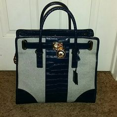 Purse Michael kores Hamilton large navy tote Michael Kors Bags Totes