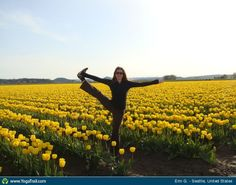 "#BaliSpirit Festival 2013 - win 2 festival passes!: ""Utthita Hasta Padangusthasana at the Skagit Valley Tulip Festival"""