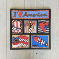Foundations Decor I Love America Shadow Box Kit Halloween Shadow Box, Christmas Shadow Boxes, Halloween Cards, Halloween Ideas, Wood Shadow Box, Shadow Box Frames, 4th Of July Fireworks, July 4th, Christmas Door Wreaths