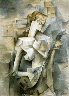 Pablo Picasso: Girl with A Mandolin (1910)