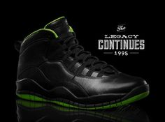 HOODFELLA MAGAZINE Air Jordan X Black/Neon Green Collection