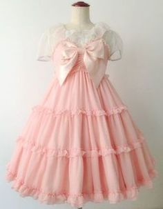 Tiered sailor style one piece Kawaii Fashion, Lolita Fashion, Cute Fashion, Kawaii Dress, Kawaii Clothes, Gothic Lolita, Lolita Style, Pretty Outfits, Cute Outfits