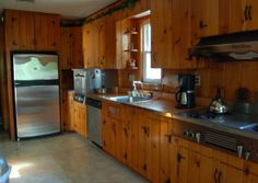 knotty pine kitchens | Knotty Pine Character, 1940's kitchen, charming but not sure what to ...