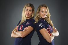 April Ross and Jen Kessy, the second of the women's United States beach volleyball team.