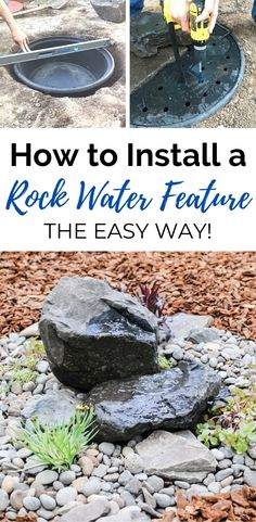 Stone Water Features, Small Water Features, Outdoor Water Features, Water Features In The Garden, Diy Water Feature, Backyard Water Feature, Ponds Backyard, Backyard Landscaping, Backyard Ideas