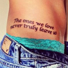 Harry Potter The ones we love never truly leave us Tattoo