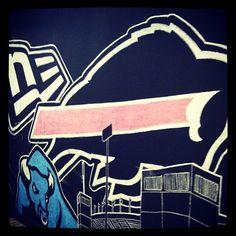#Bills repping hard on the Buffalo Chalk Walk at New Era Headquarters. #Buffalove #NewEra