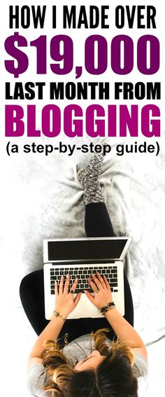 How she made over $19,000 in her 8th month of blogging is CRAZY! I'm so glad I found these AMAZING tips Now I have some real ways to make money from home without a college degree! Definitely pinning!