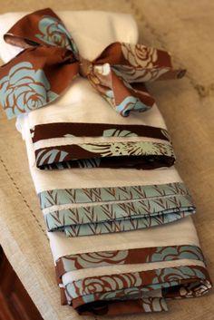 diy bound edge tea towels