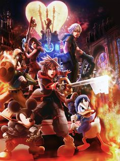 by Baka-neearts on DeviantArt Kingdom Hearts 3, Kingdom Hearts Wallpaper, Kingdom Hearts Characters, Heart Wallpaper, Cry Anime, Disney Magic Kingdom, Girls Anime, Devil May Cry, Cultura Pop