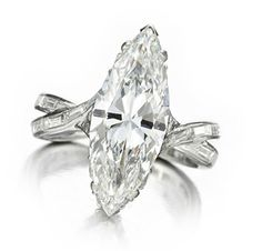 A Marquise-cut Diamond Ring, of 4.72 carats, by Sterle, circa 1950 Photo courtesy of FD Gallery