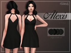 Trillyke: Alexis A-Line Little Black Dress • Sims 4 Downloads